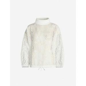クロエ SEE BY CHLOE レディース ニット・セーター トップス lace turtleneck woven jumper Crystal white|fermart3-store
