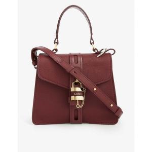 クロエ CHLOE レディース ハンドバッグ サッチェルバッグ バッグ aby pebbled leather satchel bag Burnt mahogany|fermart3-store