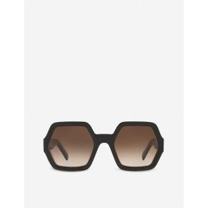セリーヌ CELINE レディース メガネ・サングラス CL40131I octagon acetate sunglasses BLACK fermart3-store
