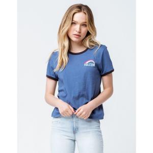 ボルコム VOLCOM レディース Tシャツ トップス Ring It Up Navy Ringer Tee NAVY|fermart3-store