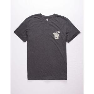 ヴィスラ VISSLA メンズ Tシャツ トップス Late Night Vices Tee HEATHER BLACK|fermart3-store