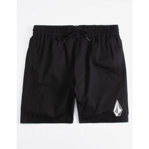 ボルコム VOLCOM メンズ 海パン 水着・ビーチウェア Deadly Stones Black Volley Shorts BLACK|fermart3-store