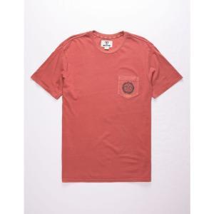ヴィスラ VISSLA メンズ Tシャツ ポケット トップス Outpost Black Pocket Tee BRICK|fermart3-store