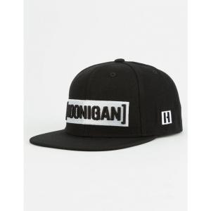 フーニガン HOONIGAN メンズ キャップ 帽子 Censor Bar Black Snapback Hat BLACK|fermart3-store