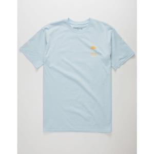 ハーレー HURLEY メンズ Tシャツ トップス Pathfinder s T-Shirt Light Blue|fermart3-store