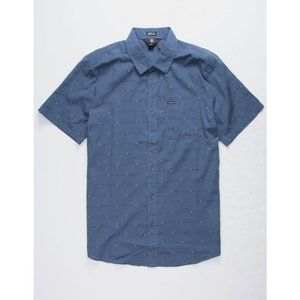 ボルコム VOLCOM メンズ 半袖シャツ トップス Magstone Shirt INDIGO|fermart3-store