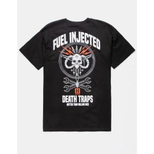 フーニガン HOONIGAN メンズ Tシャツ トップス Fuel Injected s T-Shirt Black|fermart3-store