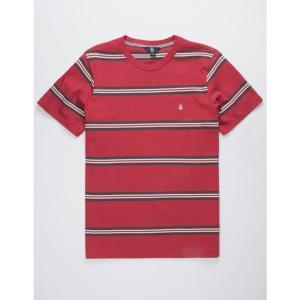 ボルコム VOLCOM メンズ Tシャツ トップス Beauville Burgundy T-Shirt BURGUNDY|fermart3-store