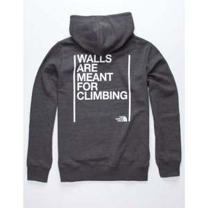 ザ ノースフェイス THE NORTH FACE メンズ パーカー トップス Walls Are Meant For Climbing Hoodie CHARCOAL|fermart3-store
