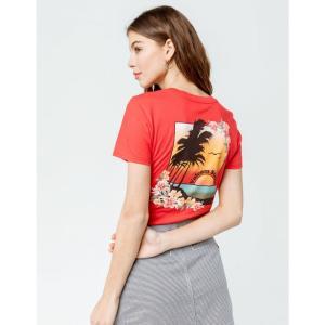 ボルコム VOLCOM レディース Tシャツ トップス Sunset Sail Tee RED|fermart3-store