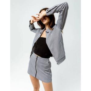 ボルコム VOLCOM レディース ジャケット アウター Frochickie Crop Jacket BLK/WHT|fermart3-store