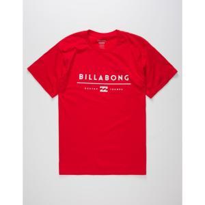 ビラボン メンズ Tシャツ トップス Unity T-Shirt RED|fermart3-store