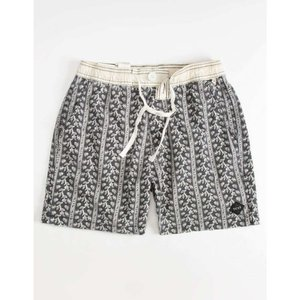 TCSS メンズ 海パン 水着・ビーチウェア Visions Volley Shorts BLACK/WHITE|fermart3-store