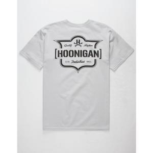 フーニガン HOONIGAN メンズ Tシャツ トップス Emblem s T-Shirt Silver|fermart3-store