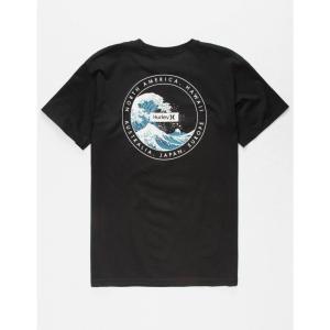 ハーレー HURLEY メンズ Tシャツ トップス Hokusai s T-Shirt Black|fermart3-store