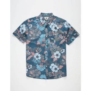 ヴィスラ VISSLA メンズ 半袖シャツ トップス Gypsy Coast Shirt NAVY|fermart3-store