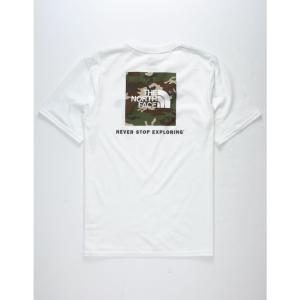 ザ ノースフェイス THE NORTH FACE メンズ Tシャツ トップス Red Box White s T-Shirt White fermart3-store