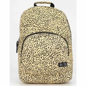 ボルコム VOLCOM レディース バックパック・リュック バッグ Schoolyard Canvas Leopard Backpack LEOPARD|fermart3-store