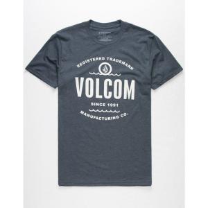 ボルコム VOLCOM メンズ Tシャツ トップス Line Up T-Shirt HEATHER NAVY|fermart3-store