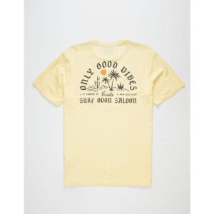 ヴィスラ VISSLA メンズ Tシャツ トップス Good Vibes Light Blue Pocket Tee LIGHT YELLOW|fermart3-store