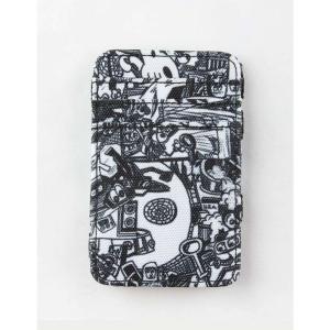 ルーカ RVCA メンズ 財布 ANP Magic Black Wallet Black/White|fermart3-store