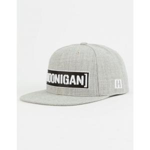 フーニガン HOONIGAN メンズ キャップ 帽子 Censor Bar Grey Snapback Hat GREY COMBO|fermart3-store