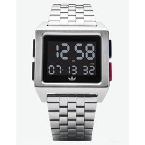 アディダス メンズ 腕時計 ARCHIVE M1 Silver Watch SILVER fermart3-store