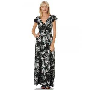 ボルコム Volcom レディース ワンピース マキシ丈 ワンピース・ドレス Pair O Dice Maxi Dress Black|fermart3-store