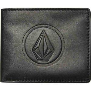 ボルコム Volcom メンズ 財布 double stone leather wallet Black|fermart3-store