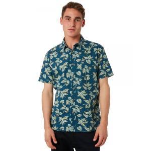 バンクス Banks メンズ 半袖シャツ トップス Rosewood Ss Shirt Dirty denim|fermart3-store
