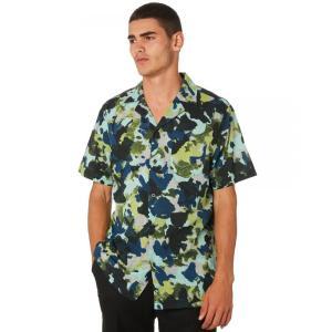 バンクス Banks メンズ 半袖シャツ トップス Business And Pleasure Co Ss Shirt Combat|fermart3-store