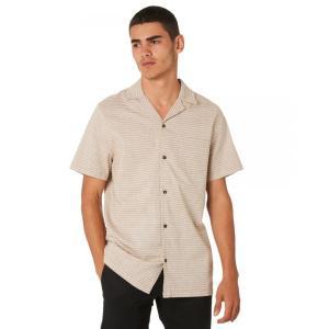 バンクス Banks メンズ 半袖シャツ トップス Shambles Ss Shirt Camel|fermart3-store