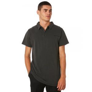 バンクス Banks メンズ ポロシャツ トップス Evolve Polo Shirt Dirty black|fermart3-store