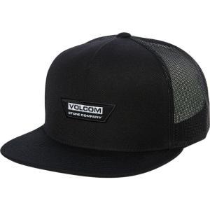ボルコム Volcom メンズ キャップ 帽子 Trapezoid Cheese Trucker Cap Black|fermart3-store