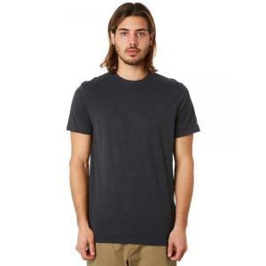 ボルコム メンズ Tシャツ トップス Solid Ss Tee Charcoal heather|fermart3-store