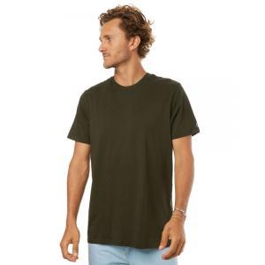 ボルコム メンズ Tシャツ トップス Solid Tee Dark green|fermart3-store
