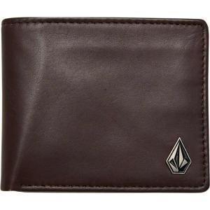 ボルコム Volcom メンズ 財布 single stone leather wallet Brown stone|fermart3-store