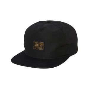 ボルコム Volcom メンズ キャップ スナップバック 帽子 Road Test Snapback Cap Black|fermart3-store