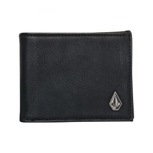 ボルコム メンズ 財布 Slim Stone Wallet Black|fermart3-store