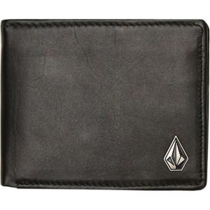ボルコム Volcom メンズ 財布 single stone leather wallet Black|fermart3-store