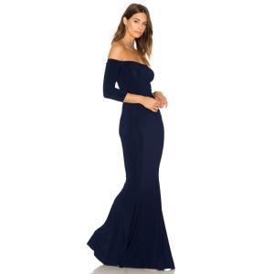 ノーマ カマリ レディース パーティードレス ワンピース・ドレス Off The Shoulder Fishtail Gown Midnight|fermart3-store