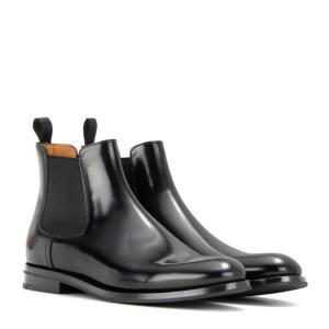 チャーチ レディース ブーツ シューズ・靴 Monmouth leather ankle boots Black fermart3-store