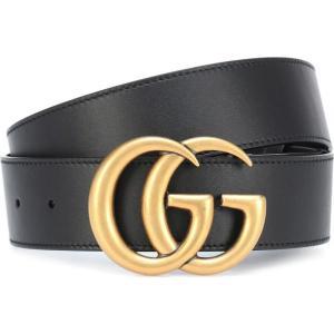 グッチ レディース ベルト Leather belt Nero|fermart3-store