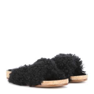 クロエ Chloe レディース サンダル シューズ・靴 Shearling slip-on sandals fermart3-store