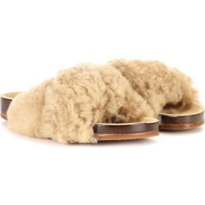 クロエ レディース サンダル・ミュール シューズ・靴 Fur slides Pink Sand|fermart3-store