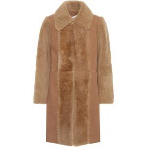 クロエ See By Chloe レディース コート アウター Fur-trimmed wool coat Vegetal Brown fermart3-store