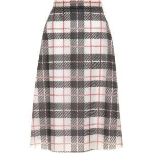 バーバリー レディース ひざ丈スカート スカート Tartan-printed plastic skirt Black Beige|fermart3-store