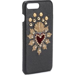 ドルチェ&ガッバーナ レディース iPhone (7 Plus)ケース Leather iPhone 7 Plus case Nero|fermart3-store