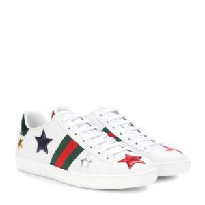 グッチ レディース スニーカー シューズ・靴 Gucci Ace leather sneakers Bianco|fermart3-store
