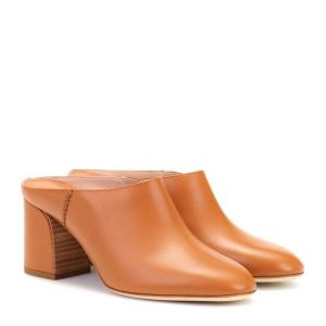 トッズ レディース ヒール シューズ・靴 Leather mules Light Brown|fermart3-store